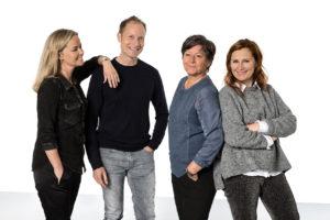 Tolketeamet - Pernille, Mads, Bente og Gitte
